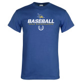 Royal Blue T Shirt-Baseball Stencil w/ Ball