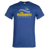 Royal Blue T Shirt-CSUB Roadrunners Baseball Seam