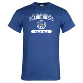 Royal Blue T Shirt-CSU Bakersfield Roadrunners Arched Volleyball