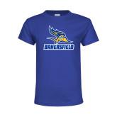 Youth Royal T Shirt-Roadrunner Head Bakersfield