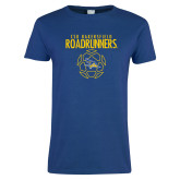 Ladies Royal T Shirt-Roadrunners Soccer Outlines