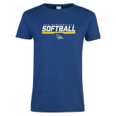 Ladies Royal T Shirt-CSU Bakersfield Softball Stencil