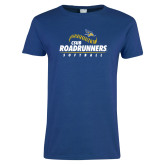 Ladies Royal T Shirt-CSUB Roadrunners Softball Seam