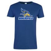 Ladies Royal T Shirt-Roadrunner Head Bakersfield