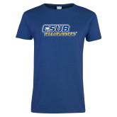 Ladies Royal T Shirt-CSUB Roadrunners