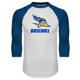 White/Royal Raglan Baseball T Shirt-Baseball