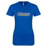 Next Level Ladies SoftStyle Junior Fitted Royal Tee-CSU Bakersfield Roadrunners