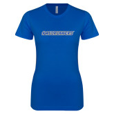 Next Level Ladies SoftStyle Junior Fitted Royal Tee-#AllRunners