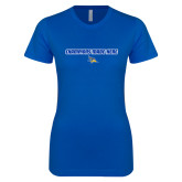 Next Level Ladies SoftStyle Junior Fitted Royal Tee-Champions Made Here Flat