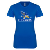 Next Level Ladies SoftStyle Junior Fitted Royal Tee-Roadrunner Head Bakersfield