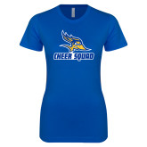 Next Level Ladies SoftStyle Junior Fitted Royal Tee-Cheer Squad