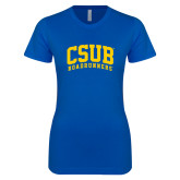 Next Level Ladies SoftStyle Junior Fitted Royal Tee-Arched CSUB Roadrunners