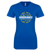 Next Level Ladies SoftStyle Junior Fitted Royal Tee-Roadrunner Basketball Lined Ball