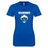 Next Level Ladies SoftStyle Junior Fitted Royal Tee-Roadrunner Wrestling w/ Headgear