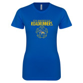 Next Level Ladies SoftStyle Junior Fitted Royal Tee-Roadrunners Soccer Outlines