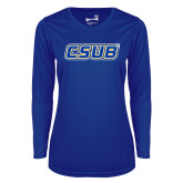 Ladies Syntrel Performance Royal Longsleeve Shirt-CSUB
