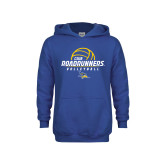 Youth Royal Fleece Hoodie-CSUB Roadrunners Volleyball Stacked