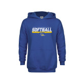 Youth Royal Fleece Hoodie-CSU Bakersfield Softball Stencil