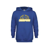 Youth Royal Fleece Hoodie-2017 Western Athletic Conference Champions - Mens Basketball Half Ball