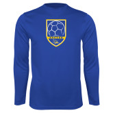 Syntrel Performance Royal Longsleeve Shirt-Soccer Shield