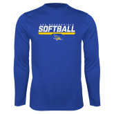 Syntrel Performance Royal Longsleeve Shirt-CSU Bakersfield Softball Stencil