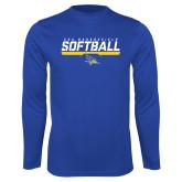 Performance Royal Longsleeve Shirt-CSU Bakersfield Softball Stencil