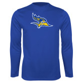 Syntrel Performance Royal Longsleeve Shirt-Primary Logo