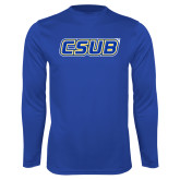 Syntrel Performance Royal Longsleeve Shirt-CSUB