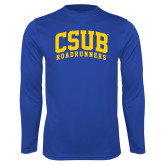 Performance Royal Longsleeve Shirt-Arched CSUB Roadrunners