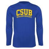 Performance Royal Longsleeve Shirt-Arched CSUB Roadrunners