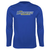 Syntrel Performance Royal Longsleeve Shirt-Baseball