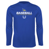 Syntrel Performance Royal Longsleeve Shirt-Baseball Stencil w/ Ball