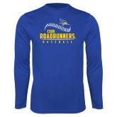 Performance Royal Longsleeve Shirt-CSUB Roadrunners Baseball Seam