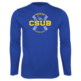 Syntrel Performance Royal Longsleeve Shirt-CSUB Baseball Circle Seams