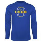 Performance Royal Longsleeve Shirt-CSUB Baseball Circle Seams