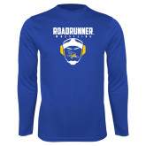 Syntrel Performance Royal Longsleeve Shirt-Roadrunner Wrestling w/ Headgear