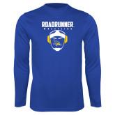 Performance Royal Longsleeve Shirt-Roadrunner Wrestling w/ Headgear