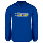 V Neck Royal Raglan Windshirt-CSU Bakersfield Roadrunners