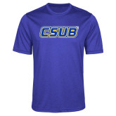 Performance Royal Heather Contender Tee-CSUB