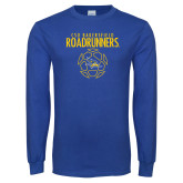 Royal Long Sleeve T Shirt-Roadrunners Soccer Outlines