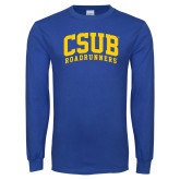 Royal Long Sleeve T Shirt-Arched CSUB Roadrunners