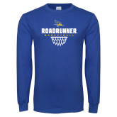 Royal Long Sleeve T Shirt-Roadrunner Basketball Net Icon