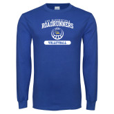 Royal Long Sleeve T Shirt-CSU Bakersfield Roadrunners Arched Volleyball