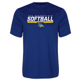 Syntrel Performance Royal Tee-CSU Bakersfield Softball Stencil