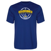 Performance Royal Tee-Roadrunner Basketball Arched w/ Ball