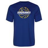 Performance Royal Tee-Roadrunner Basketball Lined Ball