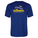 Syntrel Performance Royal Tee-CSUB Roadrunners Baseball Seam