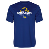 Performance Royal Tee-CSUB Roadrunners Volleyball Stacked