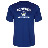 Performance Royal Tee-CSU Bakersfield Roadrunners Arched Volleyball