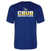 Syntrel Performance Royal Tee-CSUB Wrestling Stencil